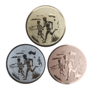 Terränglöpningsmotiv till medalj