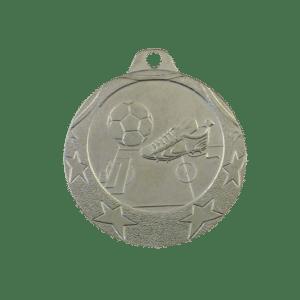 Fotbollsmedalj i silvervalör
